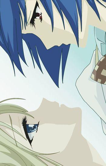Ese momento incomodo en el que quisiera ser Hikari (cabello rubío) para estar con Amane (cabello azul :v)~ Strawberry Panic Anime Yuri Love