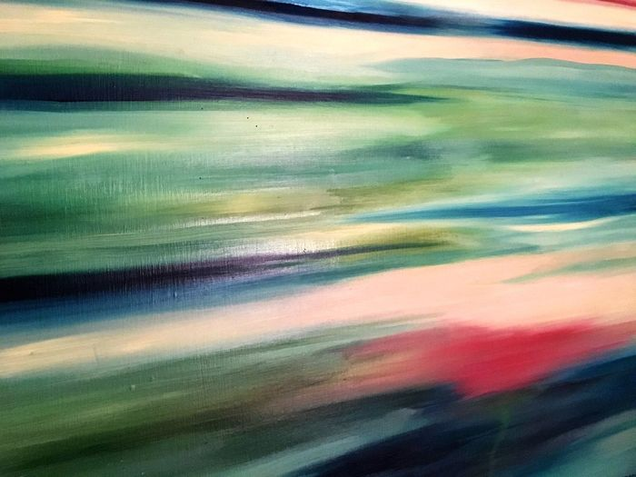 Oil Painting Abstract Landscape Full Frame Multi Colored Backgrounds No People Outdoors Nature Day Sky Stripes Pattern Horizon