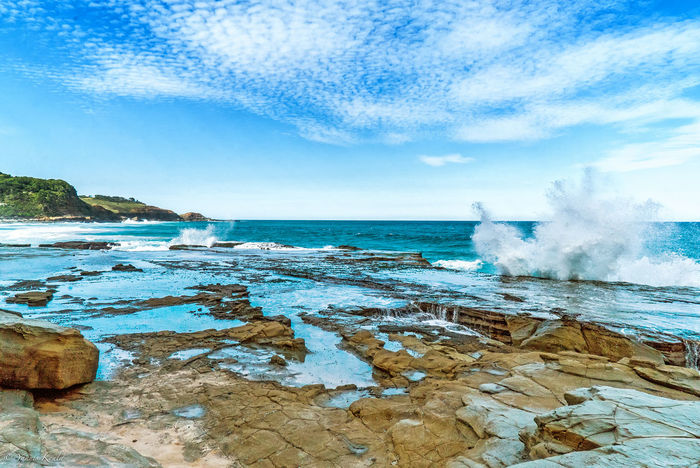 Sea Water Sky Horizon Over Water Scenics Tranquil Scene Rock - Object Tranquility Blue Beauty In Nature Wave Nature Non-urban Scene Vacations Cloud - Sky Travel Destinations Seascape Tourism Sydney Sydney Photography Landscape_photography Landscape_Collection Landscape Royal National Park
