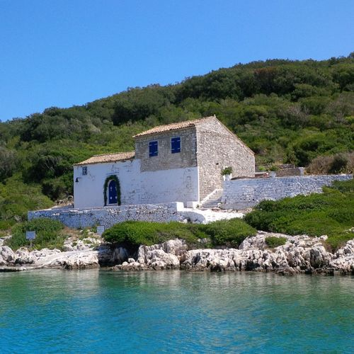 Blue Clear Sky No People Water Home On The Sea Summer ☀ Greek Islands Paxos Solitary Place Architecture