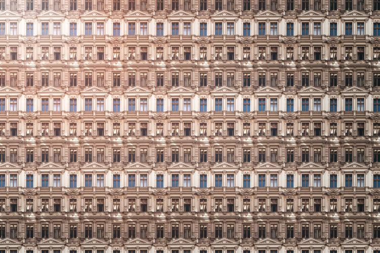 Full frame shot of old building