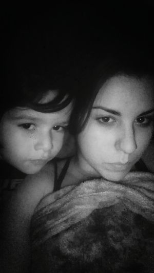Mommy And Son <3 Blackandwhite