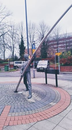 Skulpture ArtWork Streetphotography Road Cars Trees Winter 2015 Hanging Out Taking Photos Enjoying Life From My Point Of View