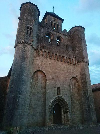 France Montjoie Occitania Church Església Fortificada History Old Ruin Arch Sky Architecture Building Exterior Built Structure Civilization Medieval