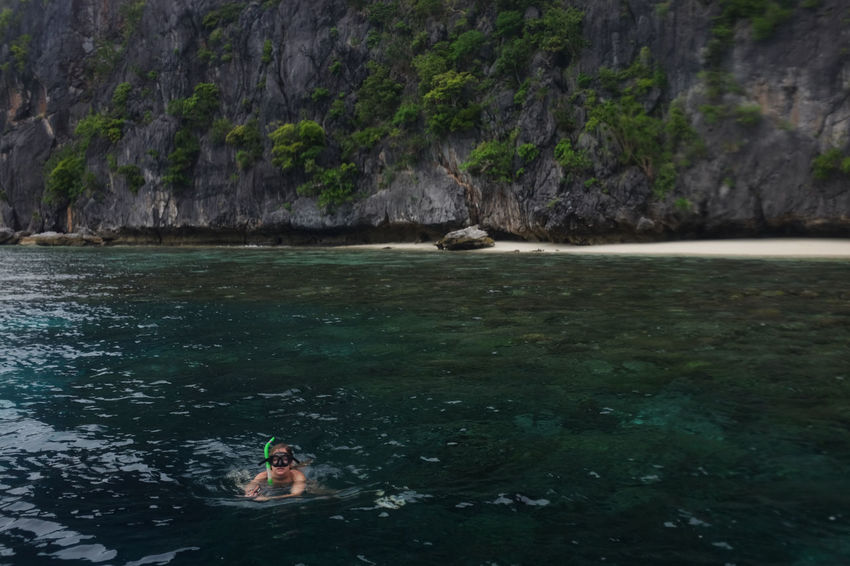 Beautiful moments in El Nido, Philippines. El Nido El Nido Islands Eyeem Philippines Nature Palawan, Philippines Philippines Adventure Leisure Activity Nature Outdoors Palawan Rock - Object Sea Sea And Sky Swimming Vacations Done That. Lost In The Landscape