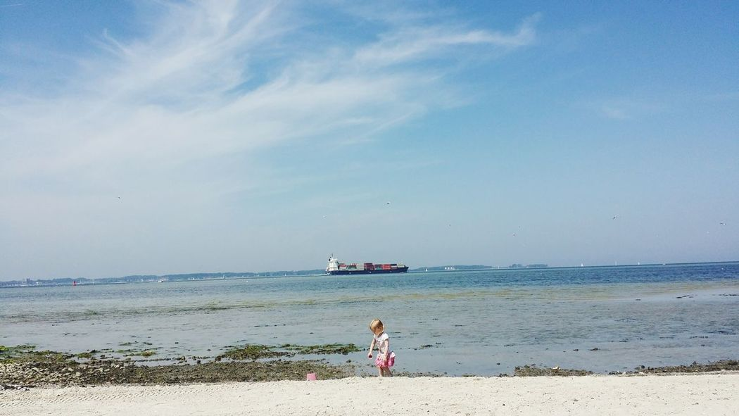 People Of The Oceans Laboe Child Ship Beach Germany
