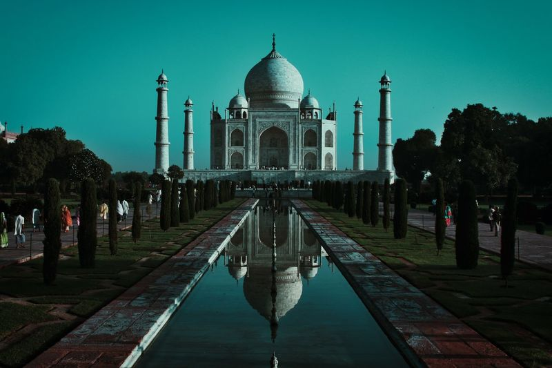 New edit. Taj Mahal, India. UNESCO World Heritage Site EyeEm Best Shots World Heritage Taj Mahal Ancient Architecture Building Exterior Built Structure Water Dome City Travel Destinations Sky Travel Reflection Tourism Reflecting Pool History The Past Building Religion Place Of Worship