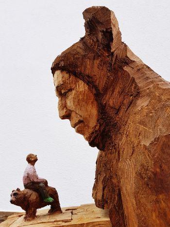 Ancient Civilization Sculpture Statue Ancient Side View