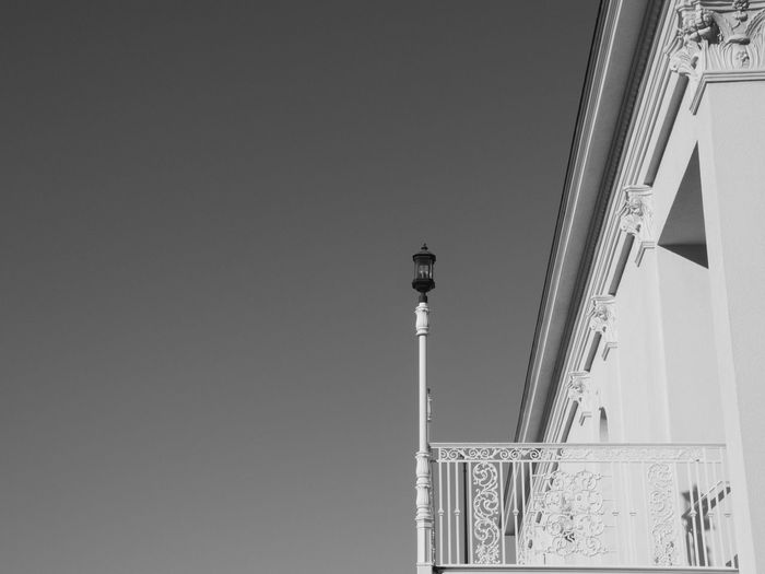 Black and White Orlando Architecture B Black And White, Building Exterior Built Structure City Clear Sky Florida, Lamp Leonidas Low Angle View Office Building Orlando Outdoors Sky Street Light Tall Tall - High Tower
