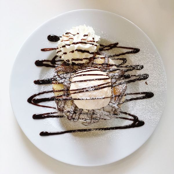 Sweet😋😋 Pancakes Nutella Wipped Cream Vanilla Ice Cream Sweets