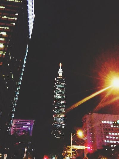 Taipei Taipei 101 Night Beautiful