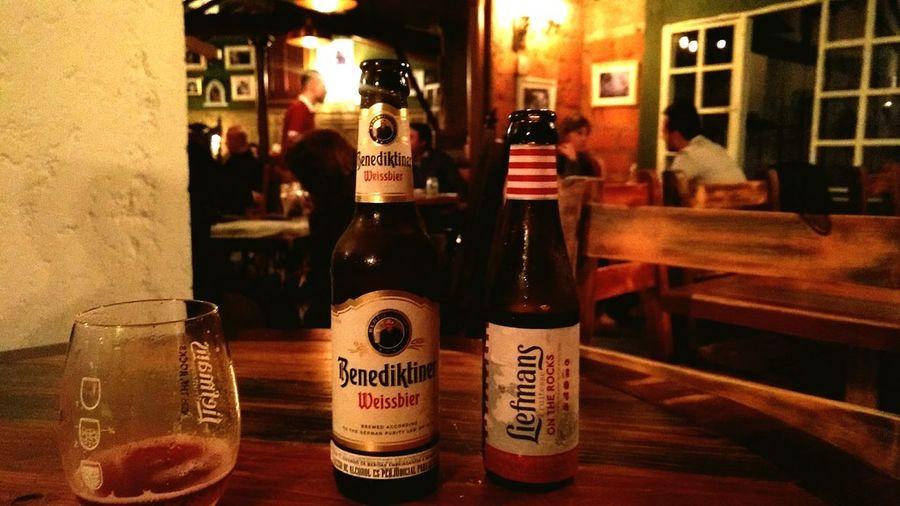 Bottle Bar - Drink Establishment Drink Table No People 3XSPUnity Beer Food And Drink Alcohol Day Food And Drink Industry Beer Glass Beer - Alcohol Beer Benediktiner Weissbier Liefmans Cherry Beer Store Indoors  Pub
