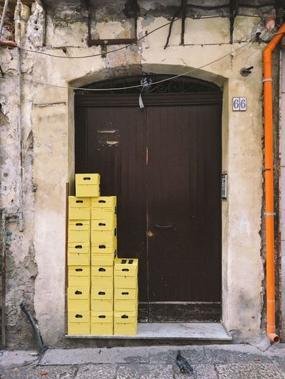The Architect - 2017 EyeEm Awards Door Architecture Entrance Built Structure Building Exterior Doorway No People Day Outdoors Sicilia Sicily Geometric Shape City Yellow Color Palermo Palermo, Italy Market Break The Mold