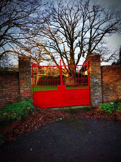Mysterious NewToEyeEm Red Gate Symbolic