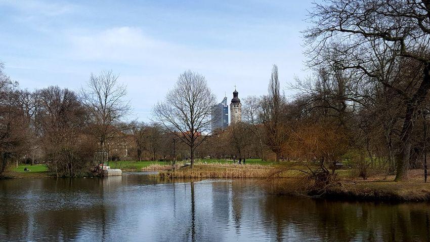 Leipzig Clara-Zetkin-Park Wasser Himmel Photo Diewocheaufinstagram Wolken Farbenfroh Photoofthedays