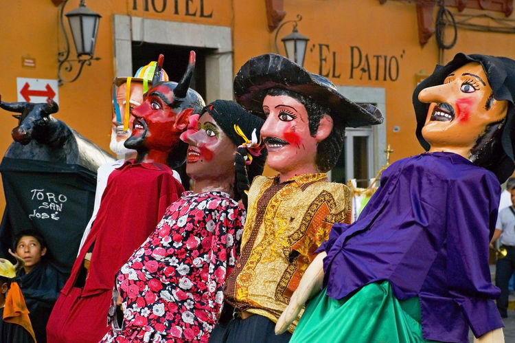 Festival costumes in Guanajuato, Mexico Guanajuato Adult Arts Culture And Entertainment Boy Celebration Clothing Costume Device Screen Fiesta Group Of People People Representation Women