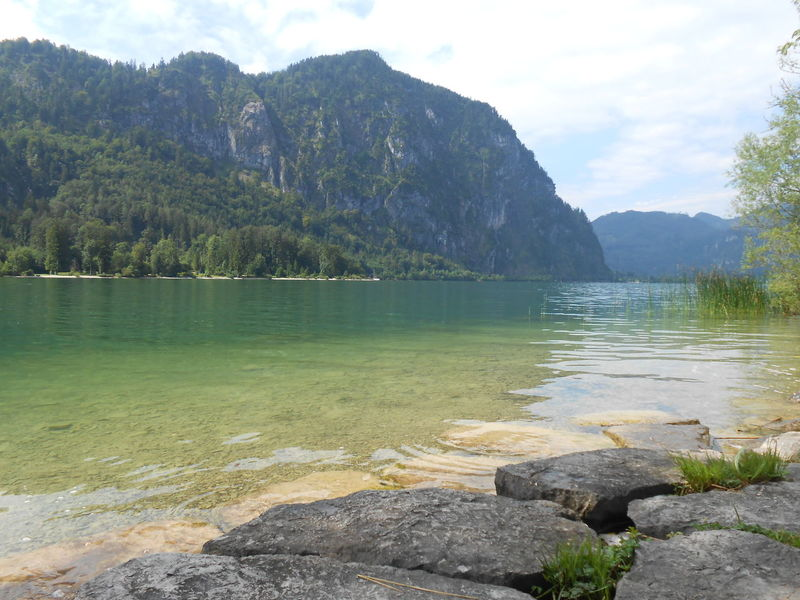 Mondsee Mondsee, Austria Beauty In Nature Day Lake Mountain Mountain Range Nature No People Outdoors Rock - Object Scenics Sky Tranquil Scene Tranquility Tree Water