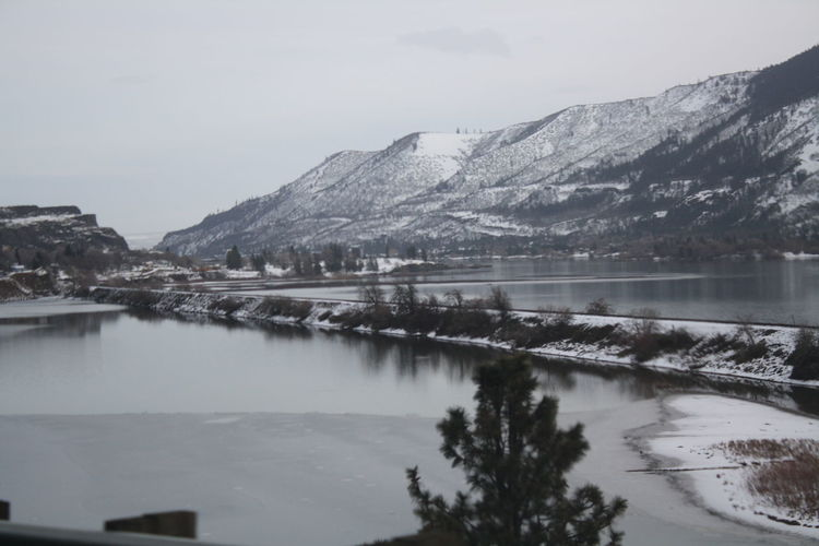 winter in Washington on the gorge! Landscape Tranquil Scene Columbia River Gorge The Gorge Train Tracks Scenic View Frozen Nature Klíč