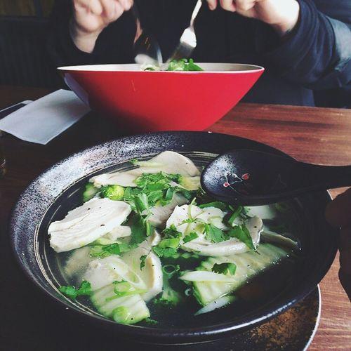 having some Soup [at] Thuy Nga