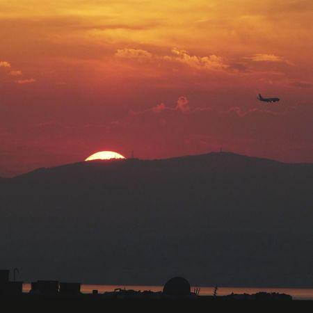 Sunset on beatiful Mallorca. Sunset Sky Outdoors City Urban Skyline Night Nature