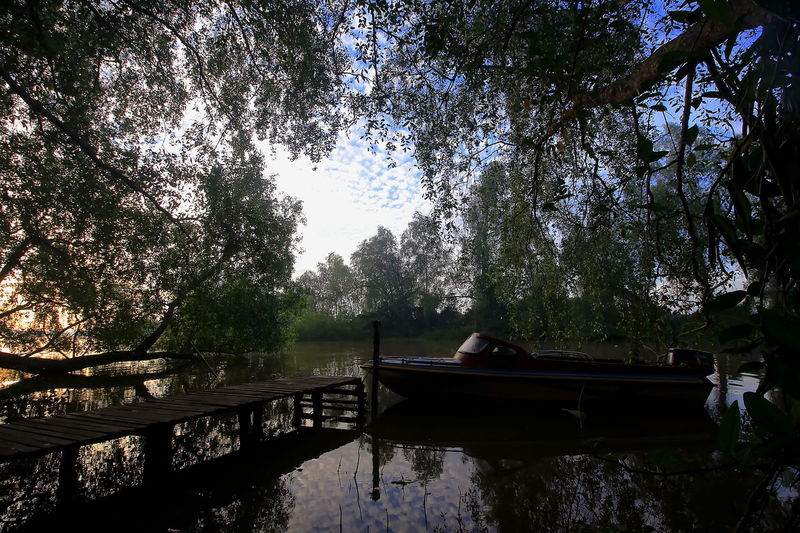 Parking HUAWEI Photo Award: After Dark Tree Water Nautical Vessel Lake Moored Reflection Sky