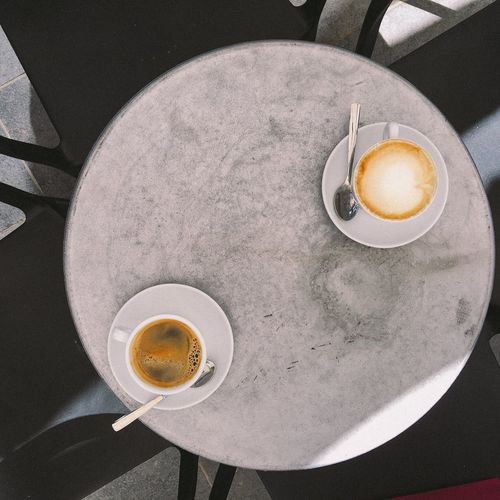 Coffee Cup Coffee - Drink Drink Food And Drink Table Breakfast High Angle View No People Cafe Day Cappuccino Sicilia Sicily Lifestyles