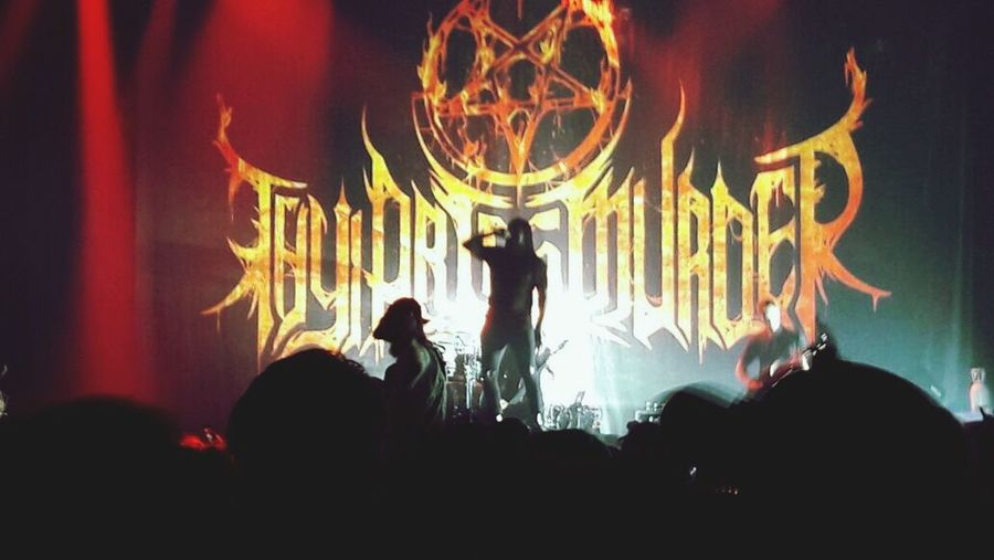 Thyartismurder Deathmetal Metal Night Silhouette Illuminated Crowd Celebration Large Group Of People Indoors  Leisure Activity Men Fun Real People Togetherness Arts Culture And Entertainment Lifestyles Women Audience People Popular Music Concert Adult