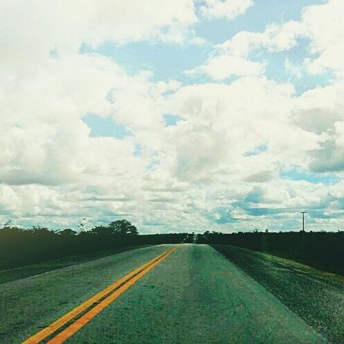 Sky Skyline CeuAzul Estrada Pista Nuvens Nuvem Limpo First Eyeem Photo