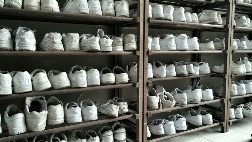 Shoes Other People's Shoes School Students Shoerack Repitition Pattern Pieces Everything In Its Place Shoe Shoe Rack Student White White Color WhiteCollection Everything ın ıts Place Everything Here Belongs To Me Color Palette