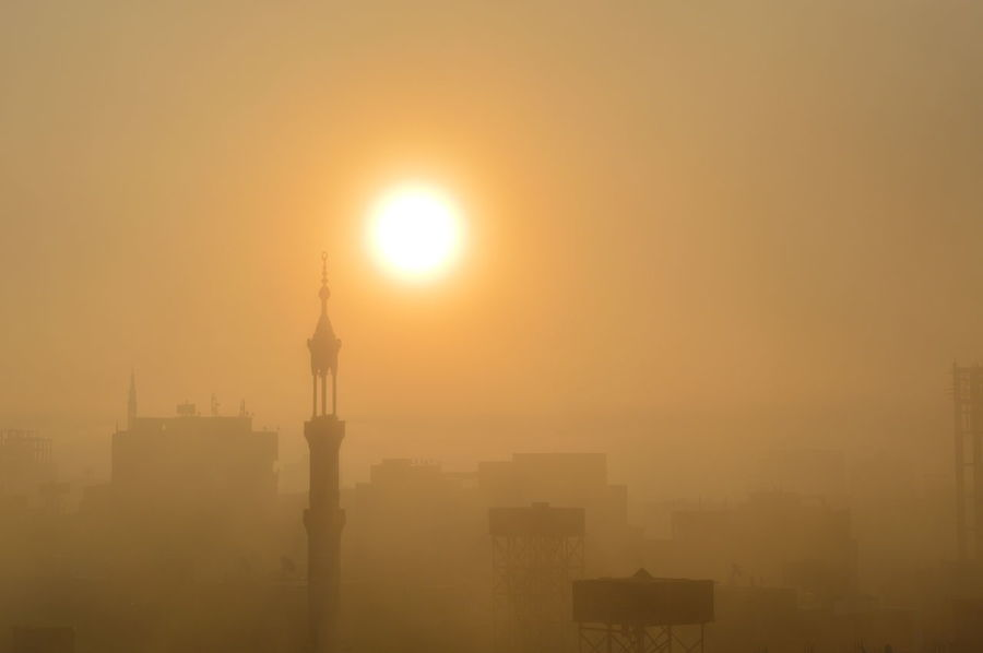 EyeEmNewHere Fog Musque Nature No People Outdoors Sky Sun Sunlight Sunrise Urban Skyline EyeEm Ready