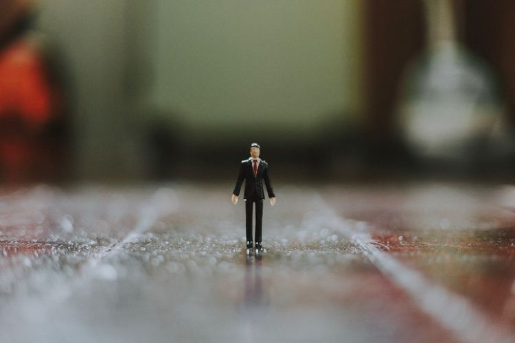 Figurine on table