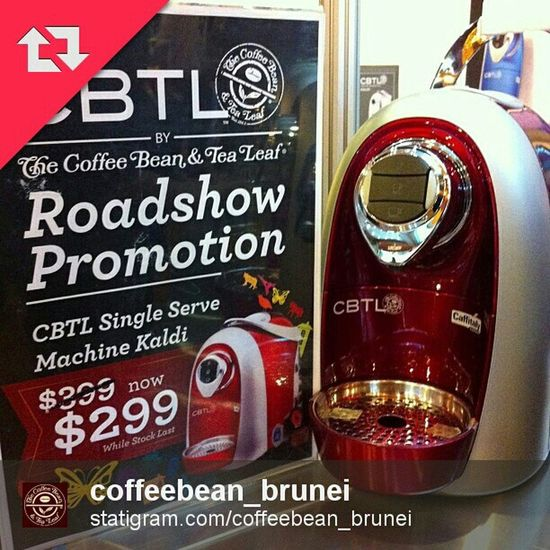 Special discount on CBTL machines at the @coffeebean_brunei Roadshow at Techxpo ICC 1-4 Dec! Get one today!