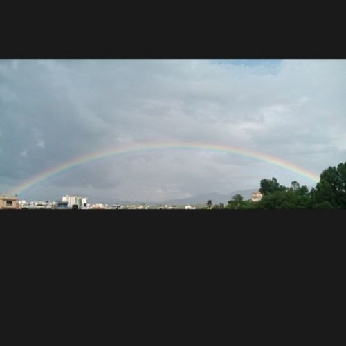 Rainbow view from my house...Beautiful Momentofpleasure Neverseenbefore @asmitamaharzan Nepal