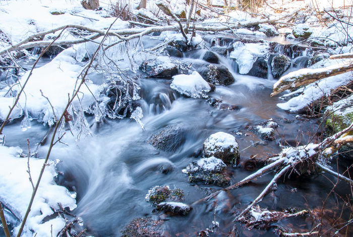 Cold Temperature D200 Gowiththeflow Nikonphotography Rock Snow Waterfall Winter
