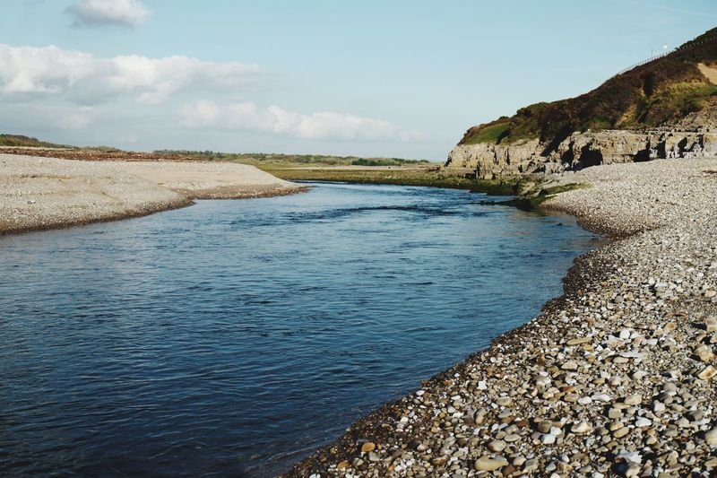 There must be a run of sea trout here Wales Sea Trout Salmon Fly Fishing Angling Fishing Estuary Riverbank River EyeEmNewHere LeicaSL Water Sky Tranquil Scene Tranquility Beauty In Nature Scenics - Nature Nature