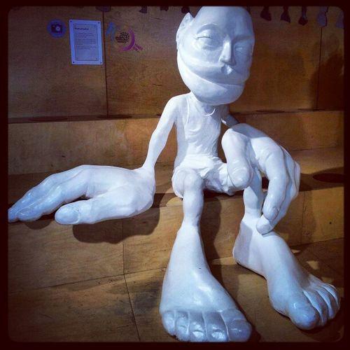 'Giant Man' ScienceCente Glasgow  Sculptures Giant ModernArt science gallery photography instagram