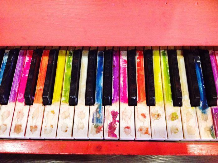 Music Piano Piano Keys Music Instrument Rainbow Colours Fine Joy Happiness Happy Melody