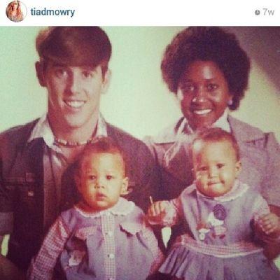 """Sister,Sister"" Tia & Tamara Mowry as babies with their mother & father. Interraciallove"