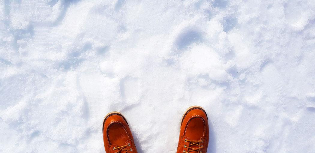 Foots on snow