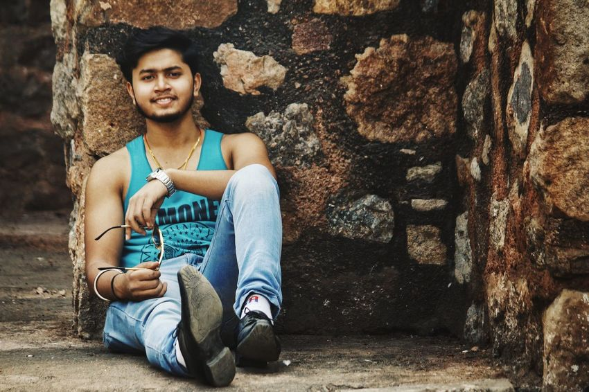 Rahul - Abshine photography Rahul Abshine Abshine_photography Canon Canon1200d Canonphotography Delhi Photography Photographyoftheday Picoftheday Sitting One Person People Outdoors Adult Young Adult Day Portrait
