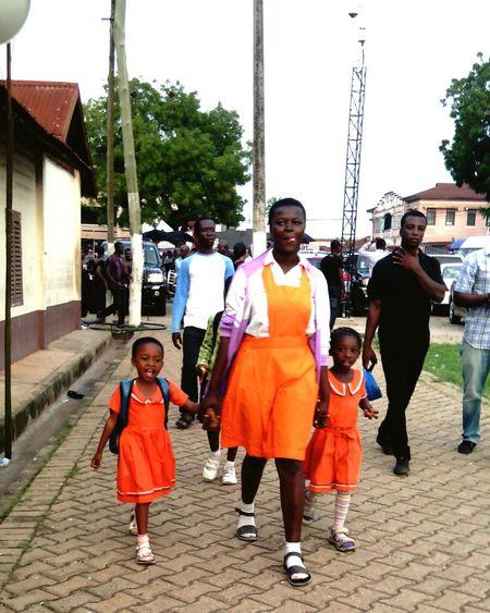 Striking Fashion Kumasi Ghana Colorful Orange Children Lovely Happiness Children_collection Childhood