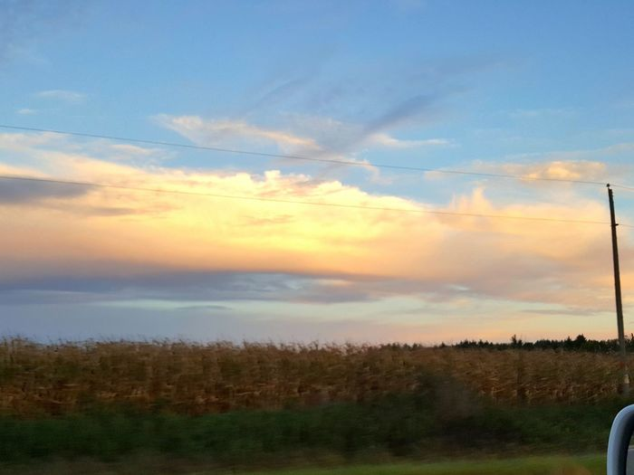 Cloud - Sky Sky Field Agriculture Rural Scene No People Sunset Outdoors Nature Growth Beauty In Nature Day