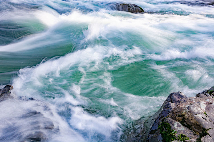 Sea Water Motion Beauty In Nature Rock Wave Solid Sport Rock - Object Surfing Scenics - Nature Nature Aquatic Sport Day Outdoors High Angle View Beach Land Power In Nature