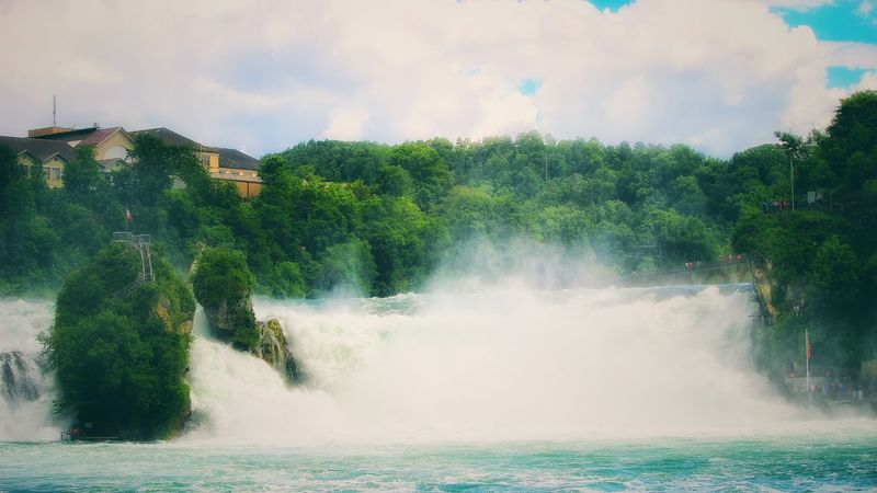 Waterfall Landscape #Nature #photography Rhinefalls Water Falls Water_collection Rheinfall Landscape_photography Landscape_Collection Landscape Waterfall_collection Hello World Taking Photos Waterfront Water