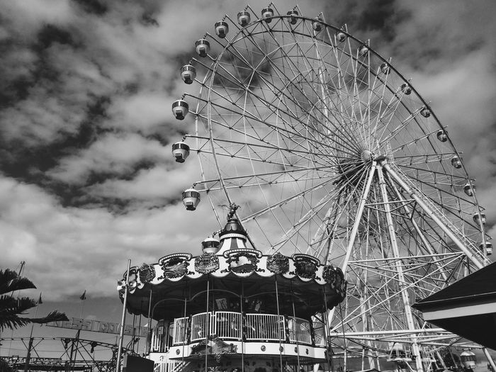 Black and White rides at Tagaytay Carnival Black And White Ferris Wheel Carousel