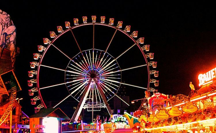 Ferris Wheel Enjoying Life Eye4photography  Colors Discover Your City Hamburg My Home Town! All The Neon Lights