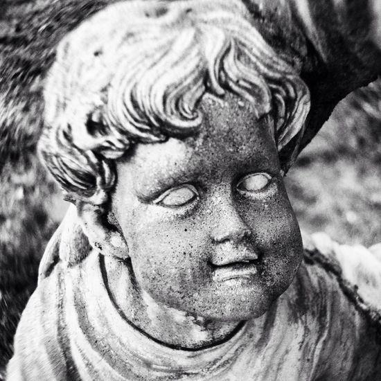 Creepy little boy, right? Morganton cemetery. Cemetery Statue Outdoors Kids