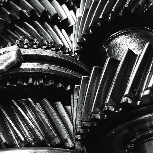 Pattern Close-up Metal Industry Metal No People Manufacturing Equipment Grease Mechanic Blackandwhite