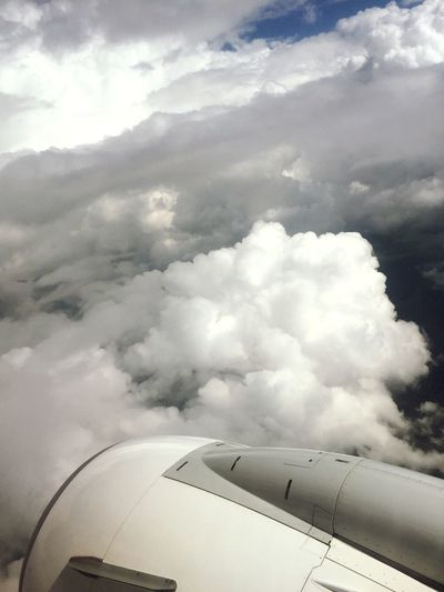 Sky land Airplane Journey Cloud - Sky Transportation Cloudscape Sky Aerial View Travel Airplane Wing Day Jet Engine Flying Sky Only Air Vehicle No People