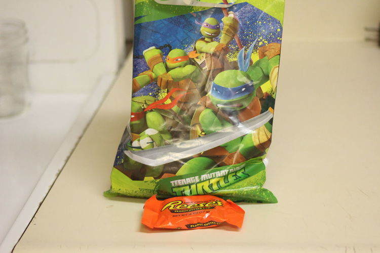 Indoors  No People Close-up Paper Currency Currency Day Food Candy Ninja Turtles Birthday Candy Bag